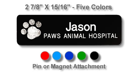 Magnetic veterinary badge veterinary name tags reflective paw print name badge abbreviations made when necessary solutioingenieria Choice Image